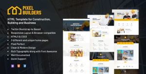 PixelBuilders - Construction HTML Template