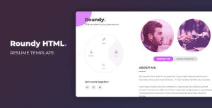 Roundy HTML - Personal Resume / CV / Vcard Template