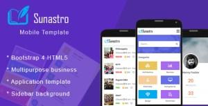 Sunastro - Bootstrap 4x Mobile HTML5 Template