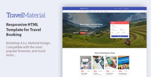 Travel Material - Resposnive HTML Template for Travel Booking