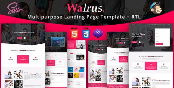 Walrus | Multi-Purpose Landing Page HTML Template