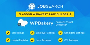 Wp JobSearch Plugin Short-codes Addon For Wp Bakery Page Builder Plugin