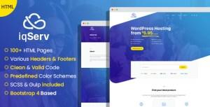 iqServ - Responsive Hosting company HTML Template