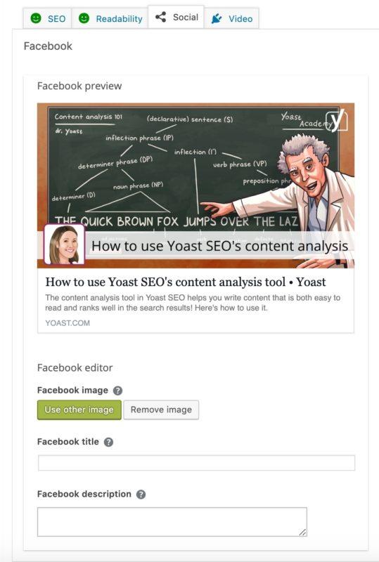 l'aperçu social de yoast seo