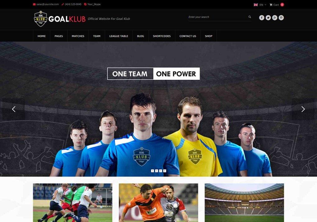 Thème WordPress Baseball Goal Club