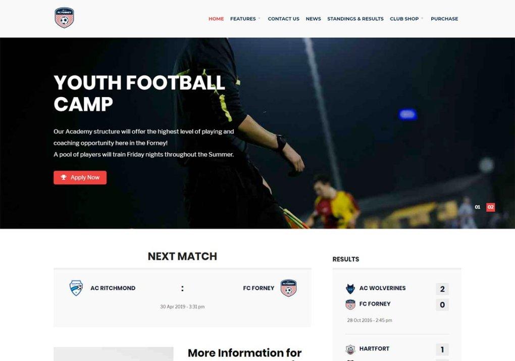 Thème WordPress Baseball Sport Club