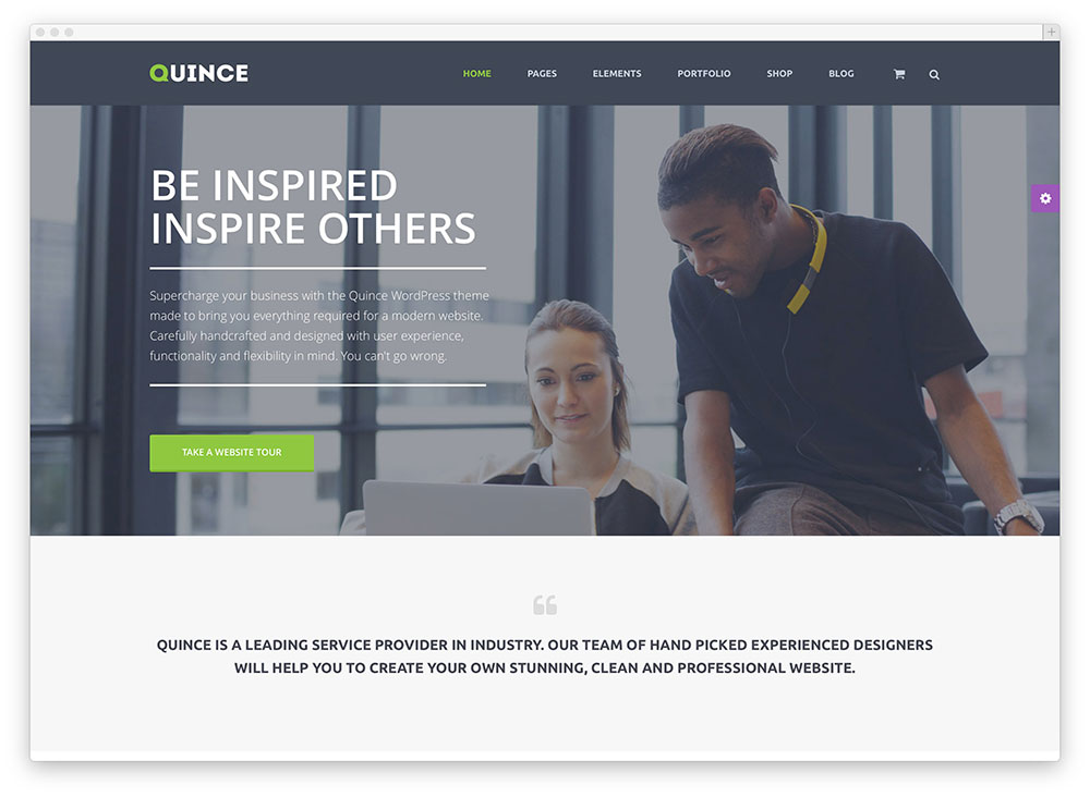 quince inspiring flat design consulting theme