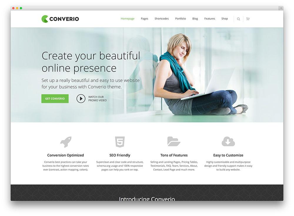 converio beautiful consulting wordpress theme