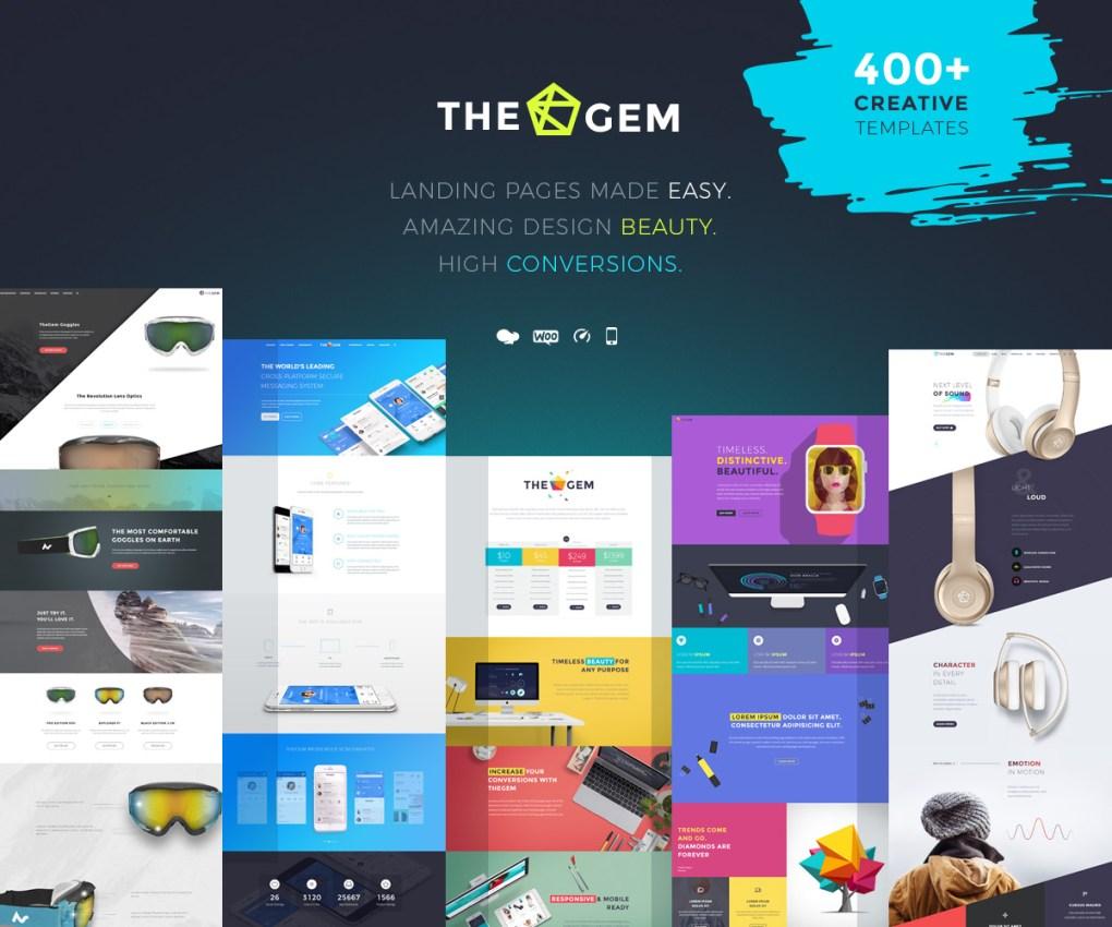 TheGem - thème WordPress de page de destination populaire