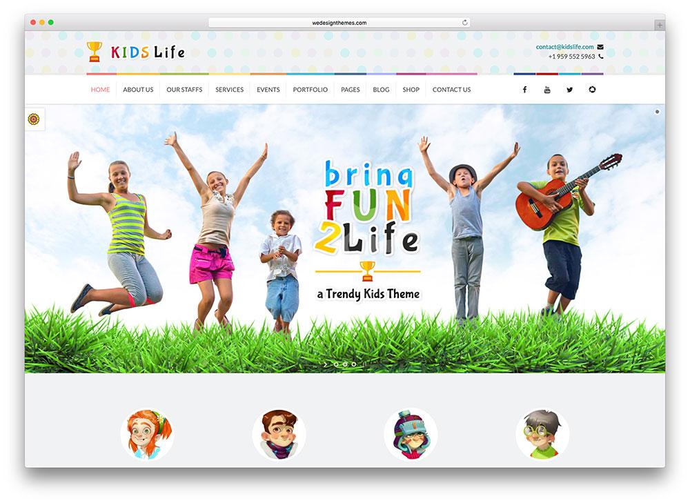 kidslife-creative-wordpress-template