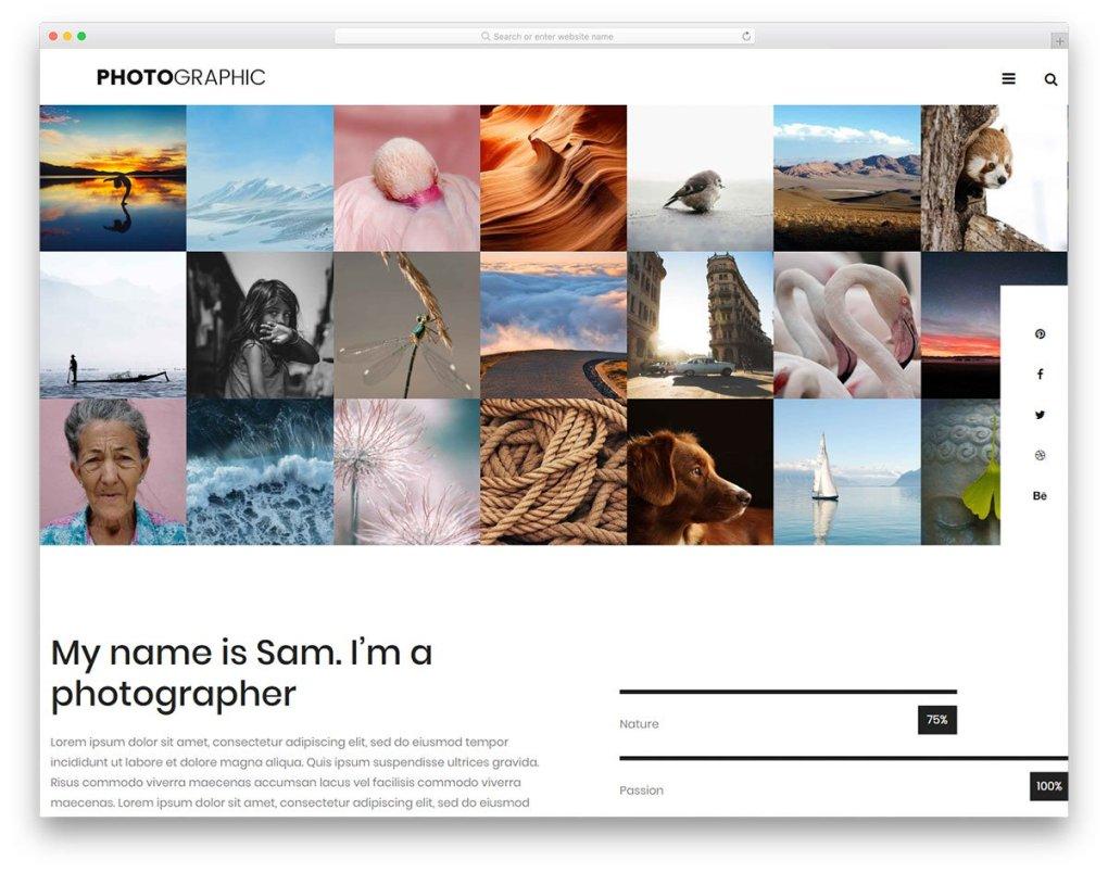 Modèle gratuit de photographe