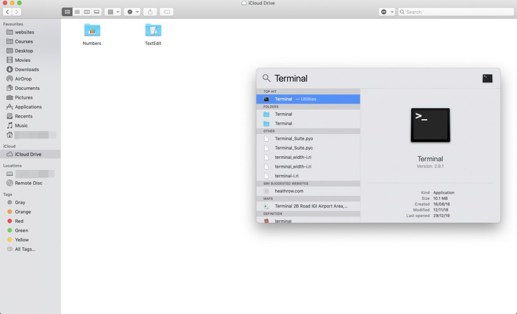 Terminal-mac