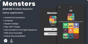 Monsters | Android Endless Reaction Game Application