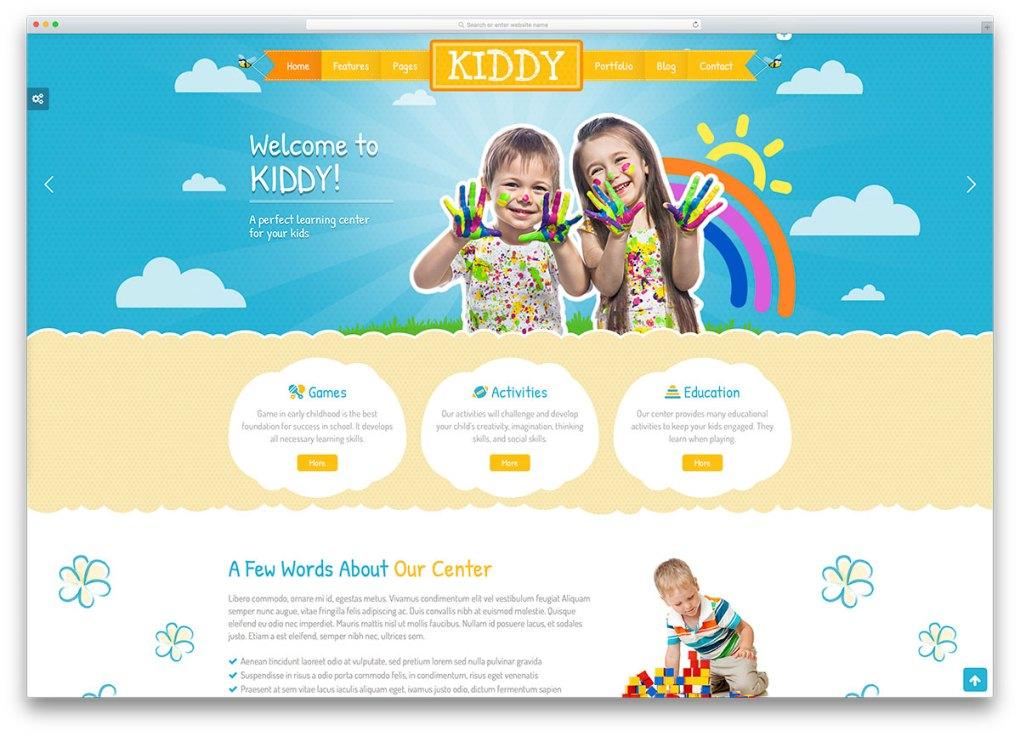 kiddy-creative-kindergarten-website-template