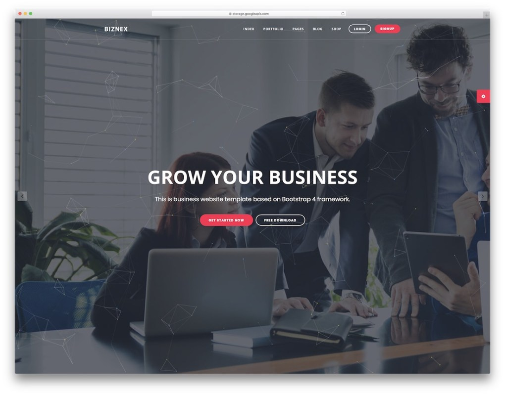 biznex multipurpose website template
