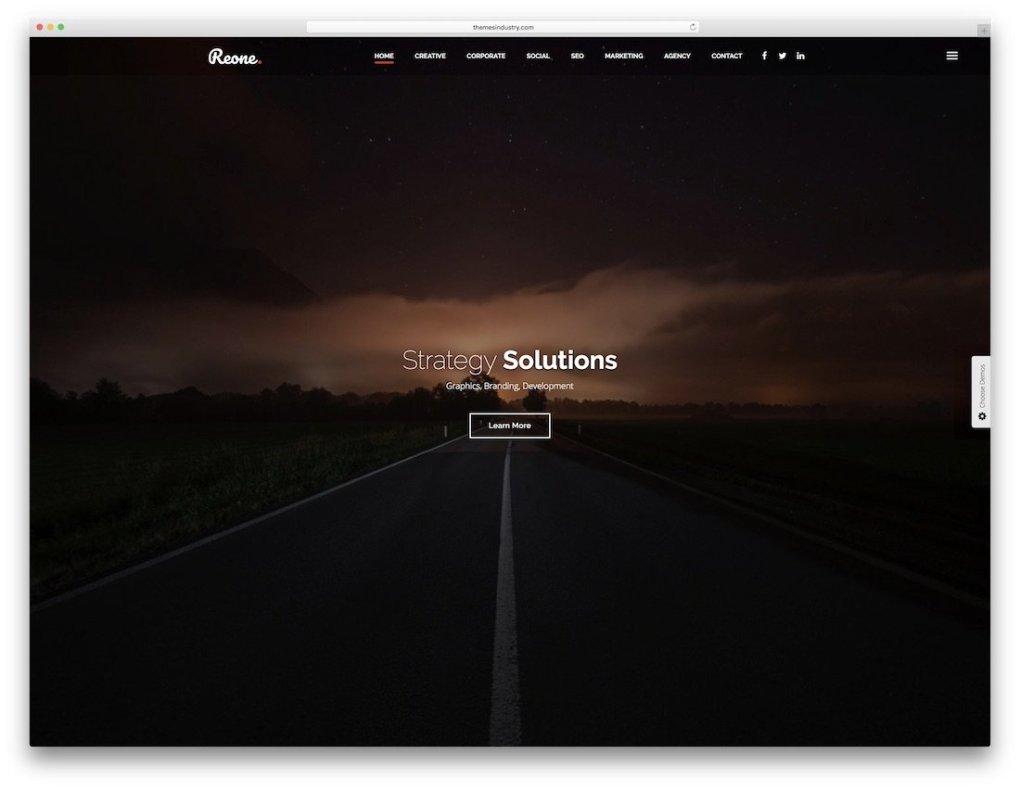modèle de site Web une page reone html5