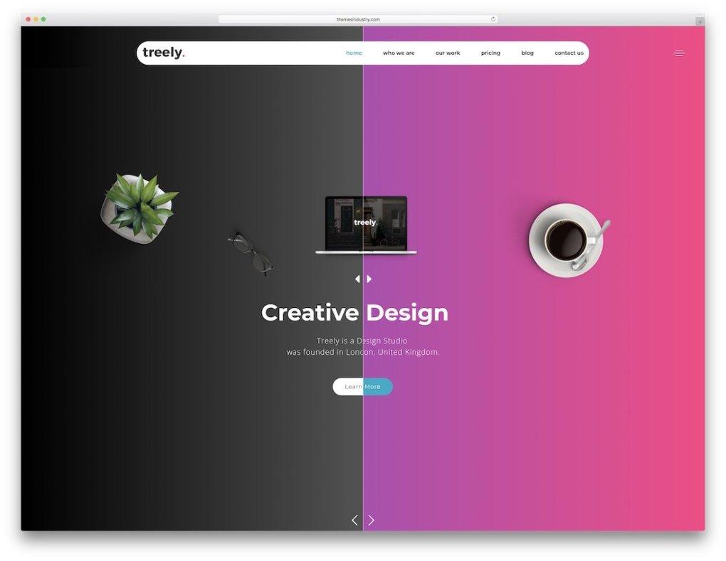 modèle de site web une page html5 treely