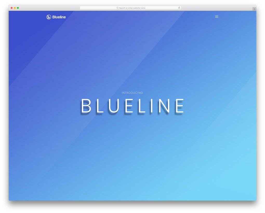 blueline free mobile-friendly website template