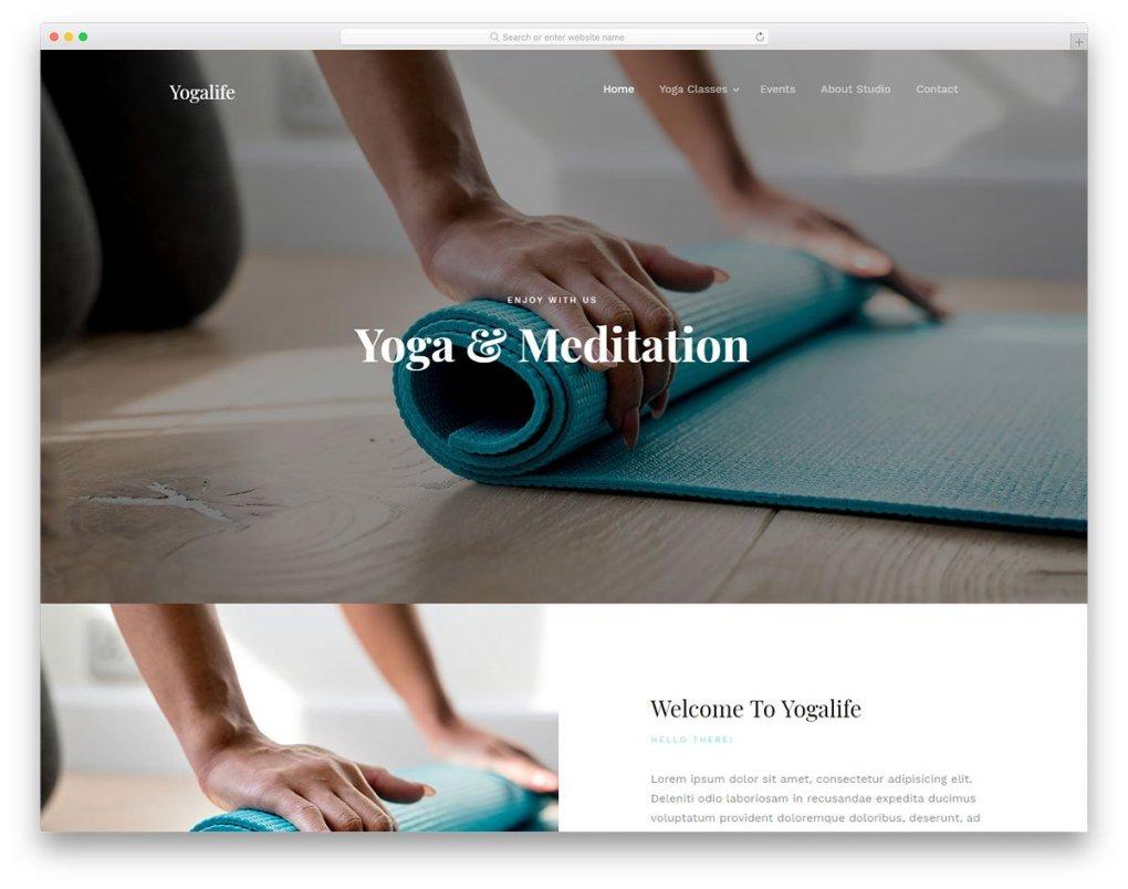 modèle gratuit yogalife