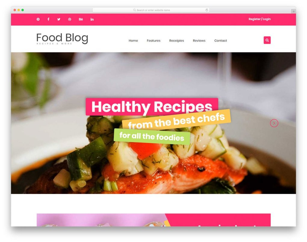 modèle gratuit de foodblog