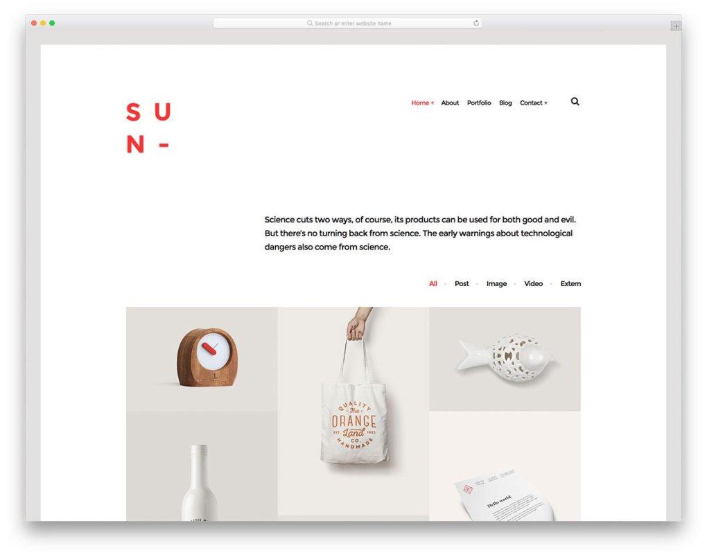 Sun - Modèle de galerie Bootstrap
