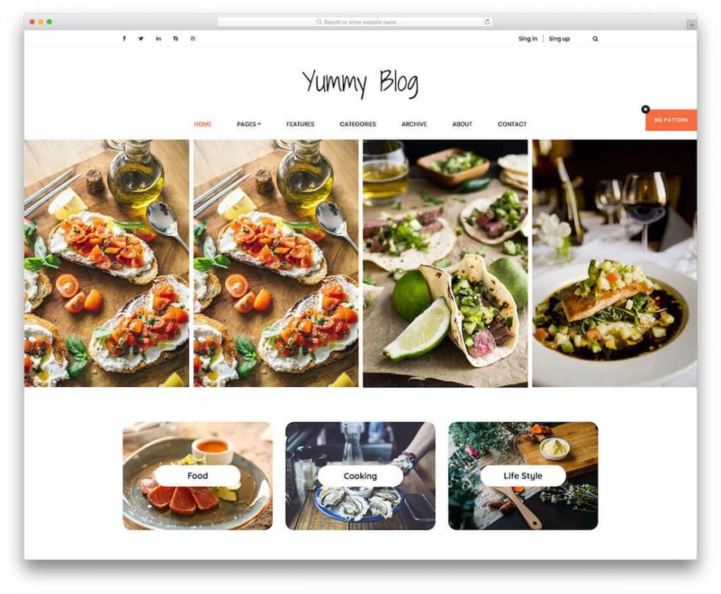 modèle de site de photographie gratuit délicieux