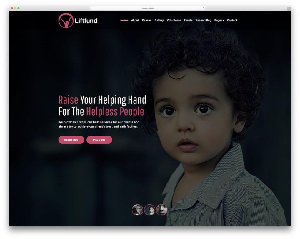 modèle de site Web liftfund