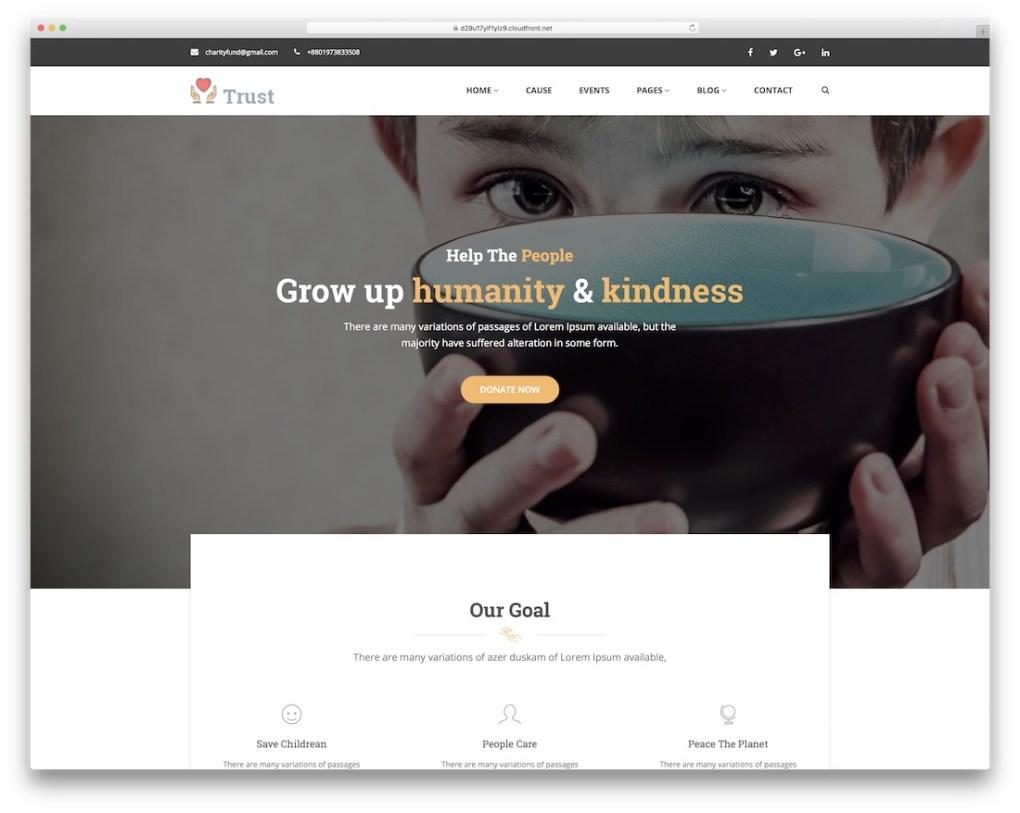 modèle de site Web de confiance