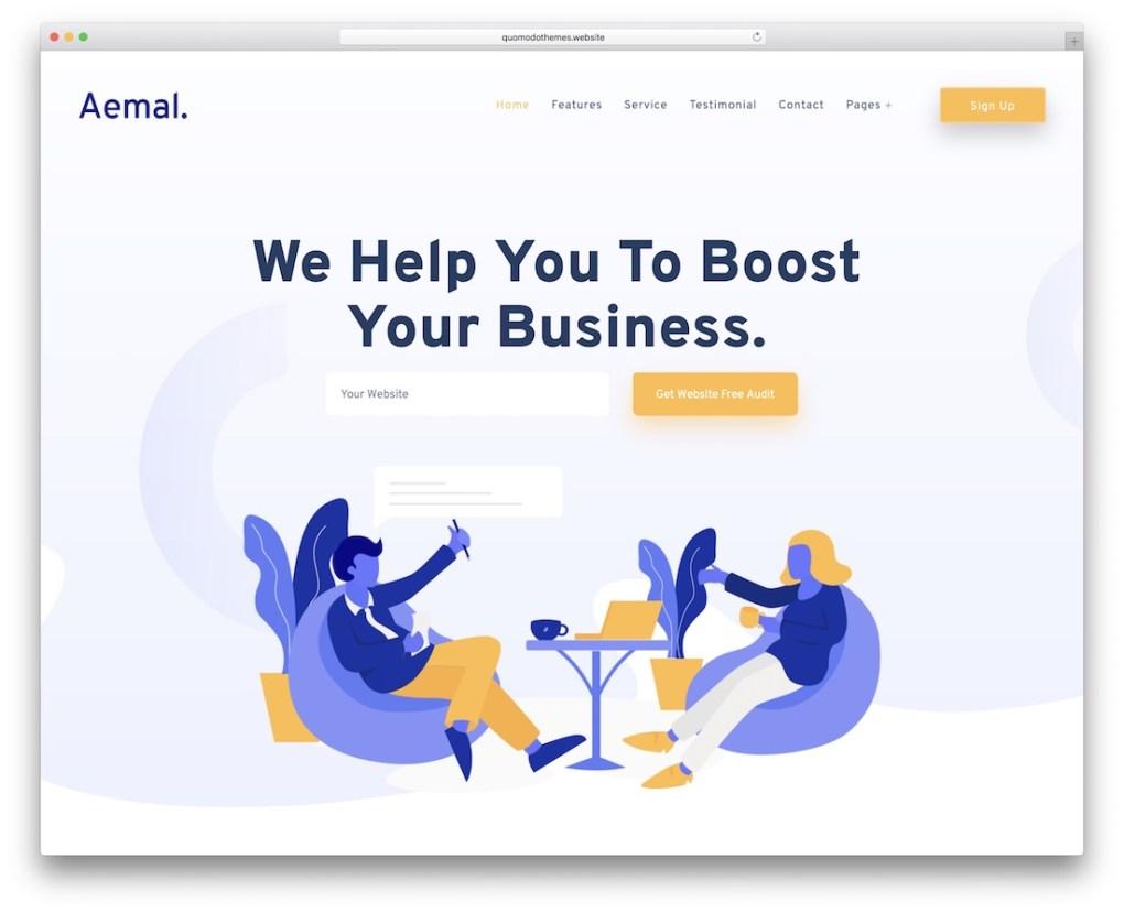 modèle de site Web de démarrage aemal