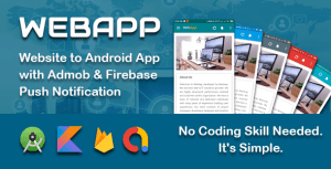 WEBAPP - Website to App Template with Admob and Push Notification Panel
