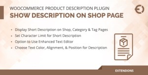 WooCommerce Product Description Plugin - Show on Shop Page