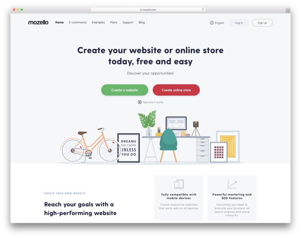 constructeur de site web mozello pour entreprise de construction