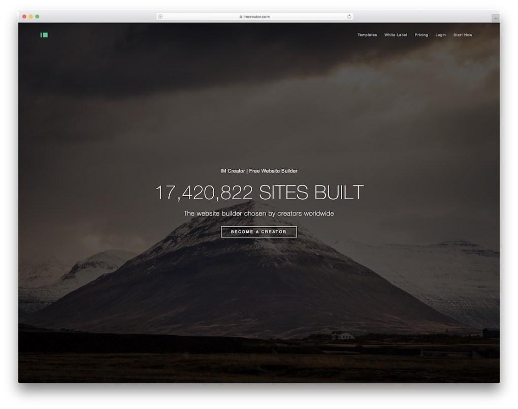 créateur de site Web im créateur pour entreprise de construction