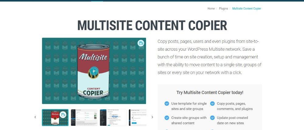 Copieur de contenu multisite