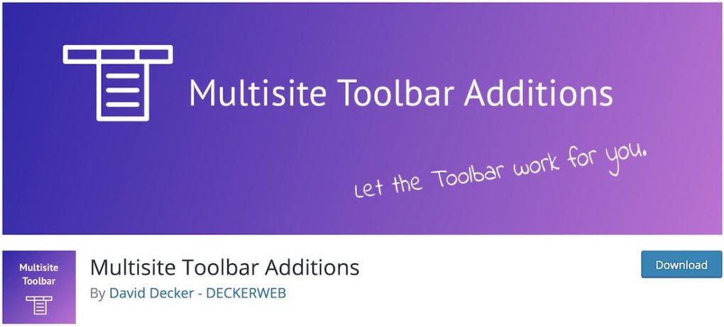 ajout de barre d'outils multisite plugin wordpress gratuit