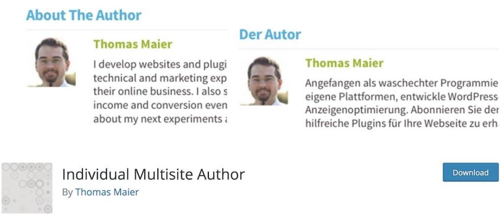 plugin wordpress gratuit pour auteur multisite individuel