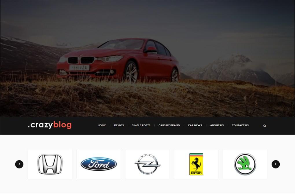 thèmes de wordpress de crazyblog cars magazine