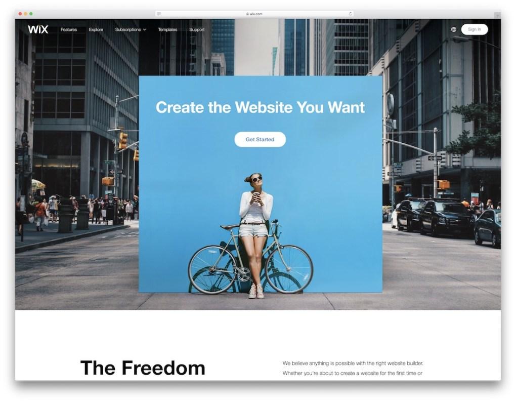 constructeur de site e-commerce pas cher wix
