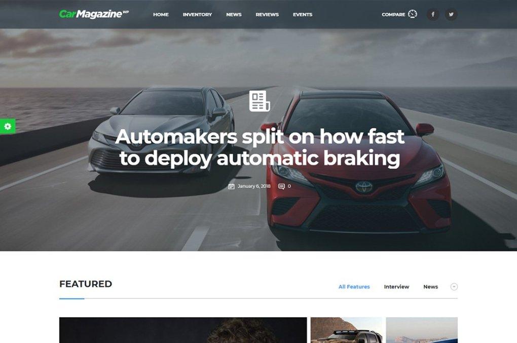 Thèmes WordPress pour le magazine Motors Cars