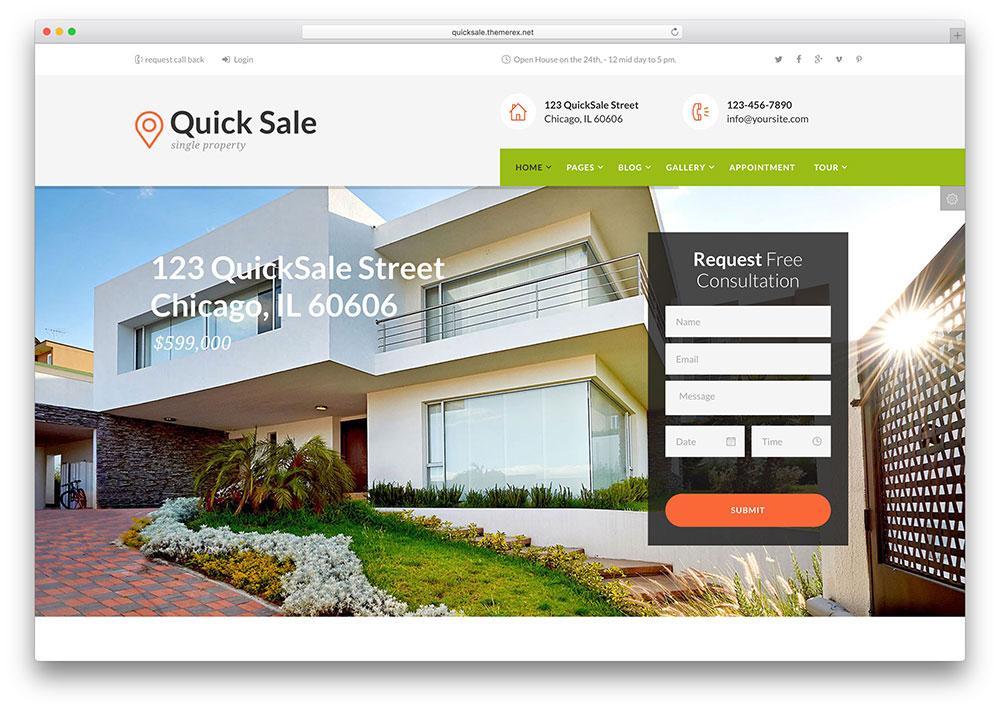 vente-rapide-unique-immobilier-thème-immobilier