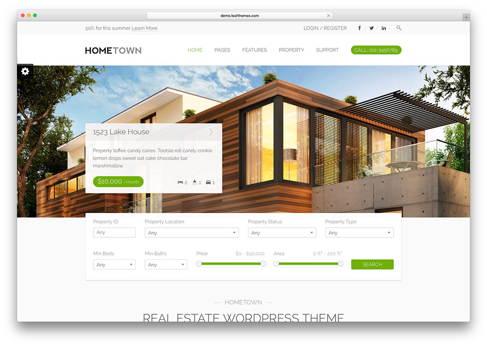 ville natale-beau-agent immobilier-wordpress-theme