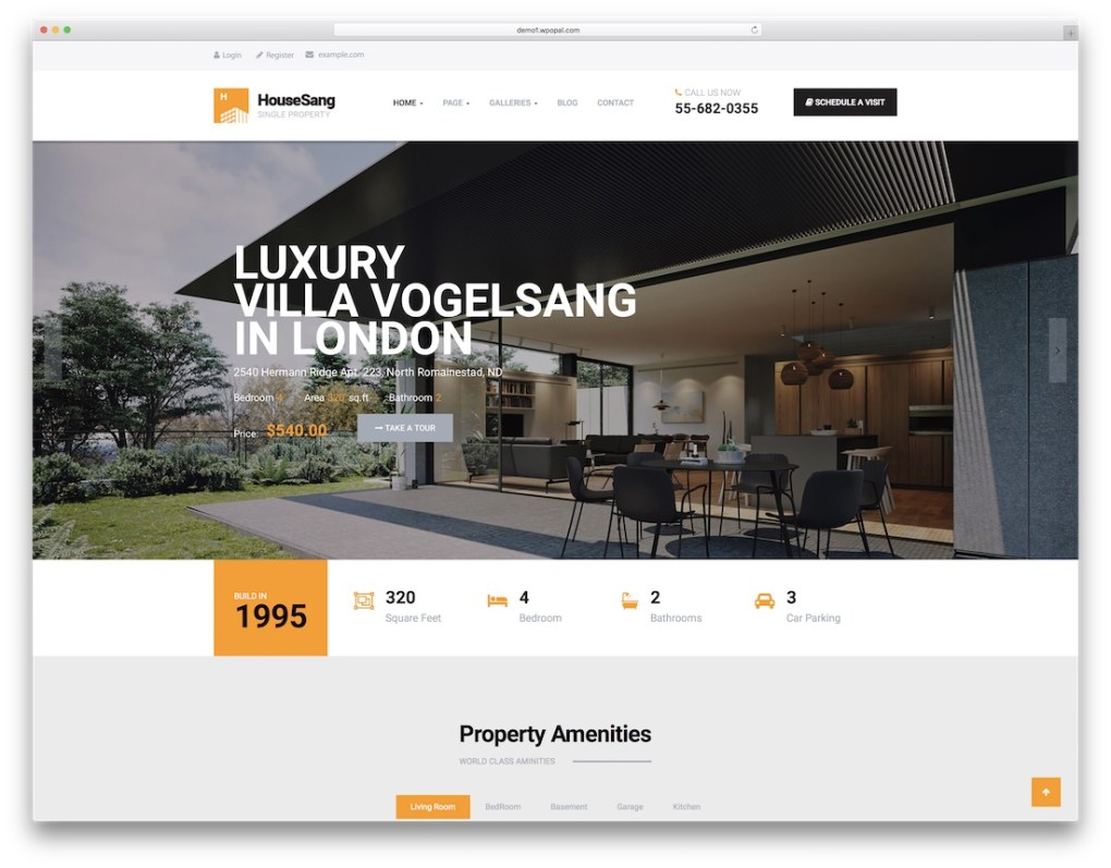 thème wordpress agent immobilier houseang