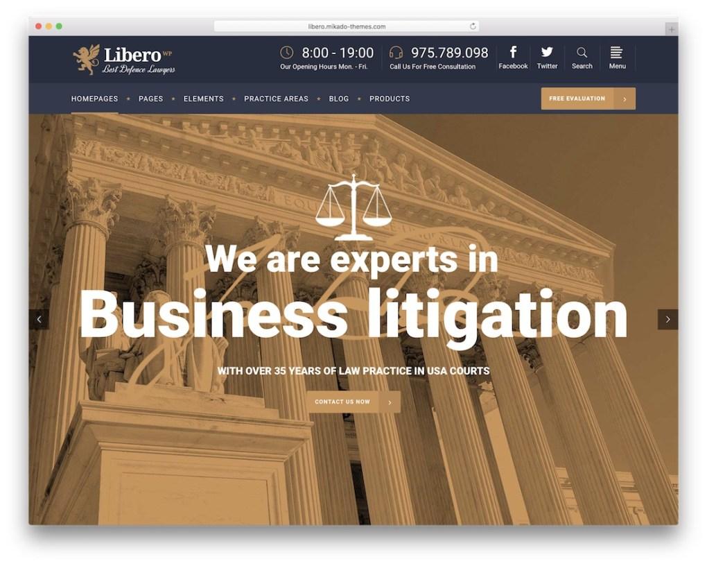 libero meilleur avocat wordpress thème