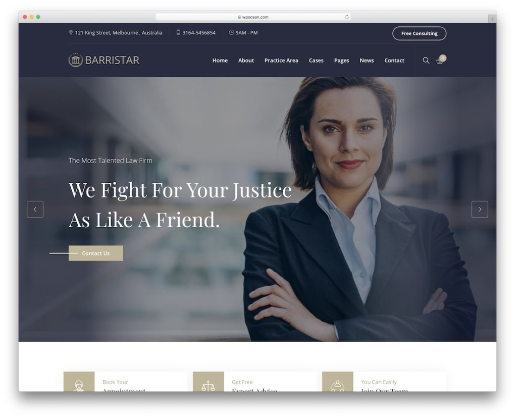 thème wordpress avocat barristar