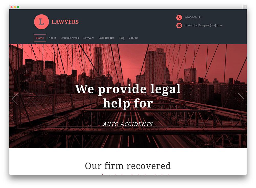 lawyers inspiring wordpress theme
