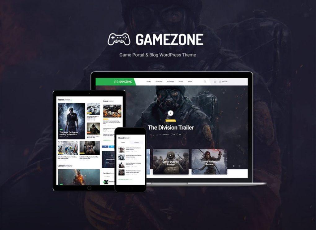thème wordpress gamezone