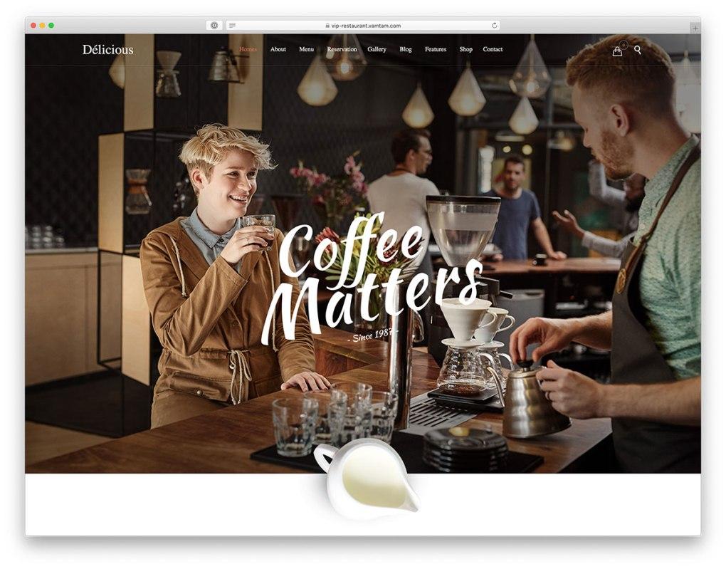 thème WordPress café moderne