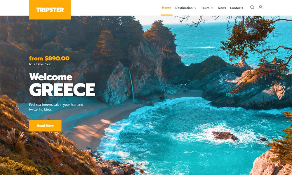 Tripster - Thème WordPress élémentaire moderne pour agence de voyage