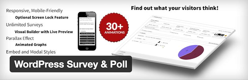 Sondage et sondage WordPress