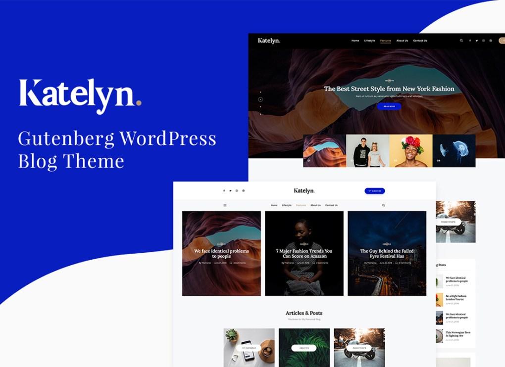 Katelyn | Thème WordPress pour le blog Gutenberg